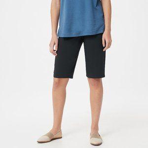 24W Martha Stewart Petite Plus Black Bermuda Short